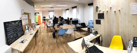 神奈川県横浜市西区にあるシェアスペースyokohamahop(ヨコハマホップ)